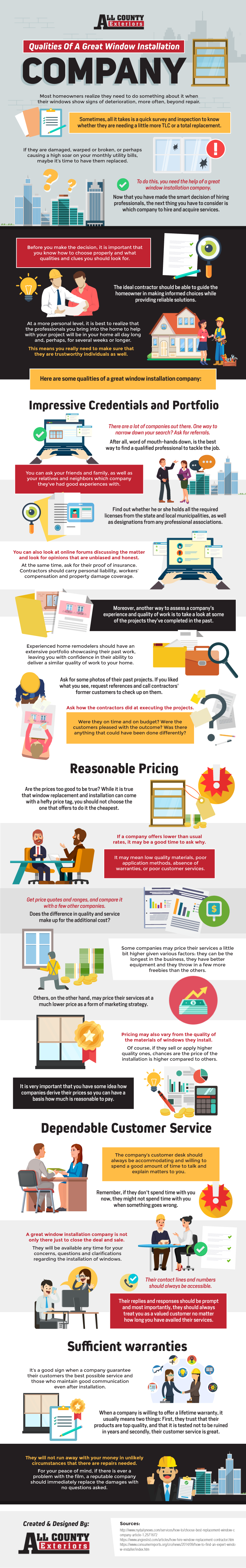 Qualities Of A Great Window Installation Company Infographic